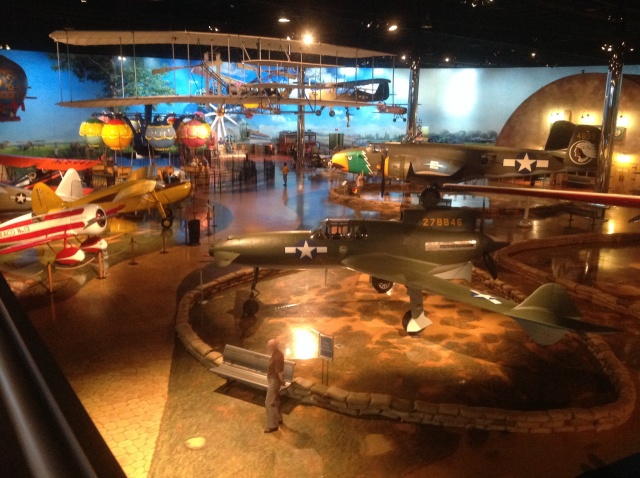 The main display area of the Air Zoo