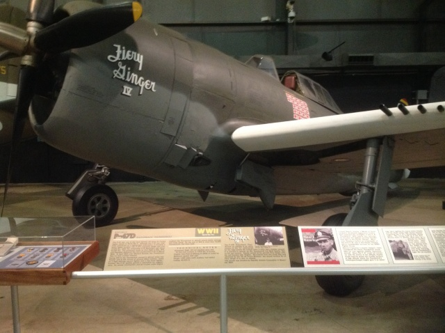 This is a real treat. A nice restoration of a P-47D Thunderbolt in the markings of Neel Kearby, the top Thunderbolt ace in the Pacific with 22 kills. And then...