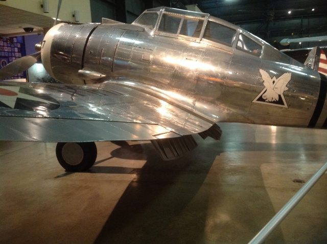 Seversky P-35. In the markings of a P-35A flown by Boyd Wagner, the first ace of any branch of the US military. Although actually scored his kills in P-40 and P-39.