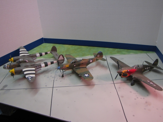 The P-38, P-39 (P-400) and P-40.  Their numbers are close together because they were all ordered within months of each other.