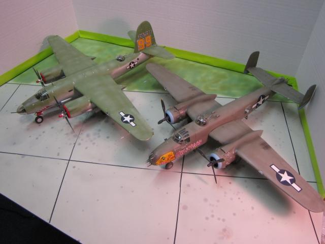 B-26 and B-25.  American Mediums.