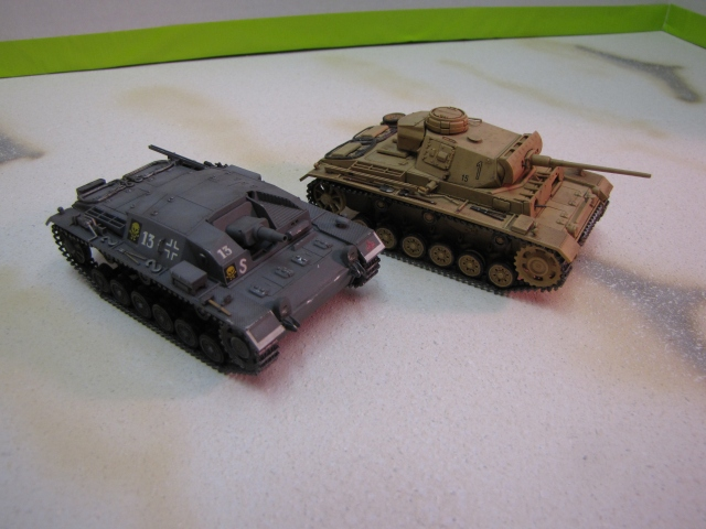 The family resemblance of the Stug III and Panzer III is apparent.   By doing away with the turret and upper structure it was possible to carry a larger, heavier gun on the same chassis. Of course, that sacrifices much of the versatility of a true tank, but leaves you with a useful, heavy gun for a variety of mobile operations.