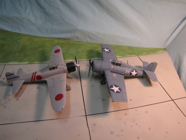 The A6M Zero outperformed the F4F-4 Wildcat in every traditional measure of fighter quality; and Japanese pilot quality was best in the world. But with good tactics US Navy pilots held their own until better types arrived.