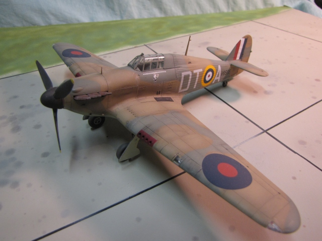 Hawker Hurricane Mk I.  There were several changes during Mk I production.  Early Hurricanes had a 2-bladed propeller and a fabric covered wing with a different layout for the eight .303 MGs.  There were also two differen 3-bladed propellers used, and several different varients of Merlin engine. It wasnt until the XX series Merlin was added that the designation changed to Mark II.