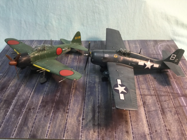 Zero and Wildcat were both improved as the war went. This is a late Zero with the FM-2.