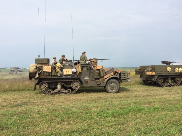 The started with a big land battle re- enactment. Sixteen American half-tracks was said to be the largest gathering of such vehicles since the end of World War Two.