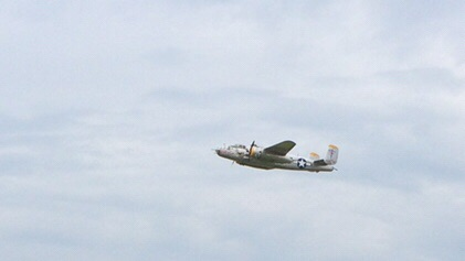 B-25 Mitchell. There were at least five flying today. So many they almost lost in the shuffle.