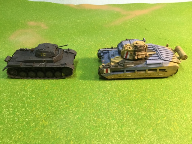 Early War opponents. The Panzer II would have regularly faced off against the British Matilda in France and North Africa.
