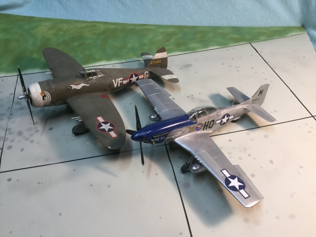 Many Fighter Groups, like the 352nd, started with Thunderbolts and later re-equipped with Mustangs.