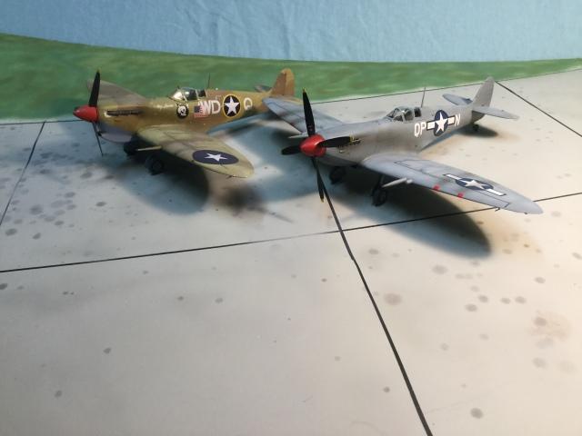Mk V and Mk IX Spitfires of the 52nd Fighter Group
