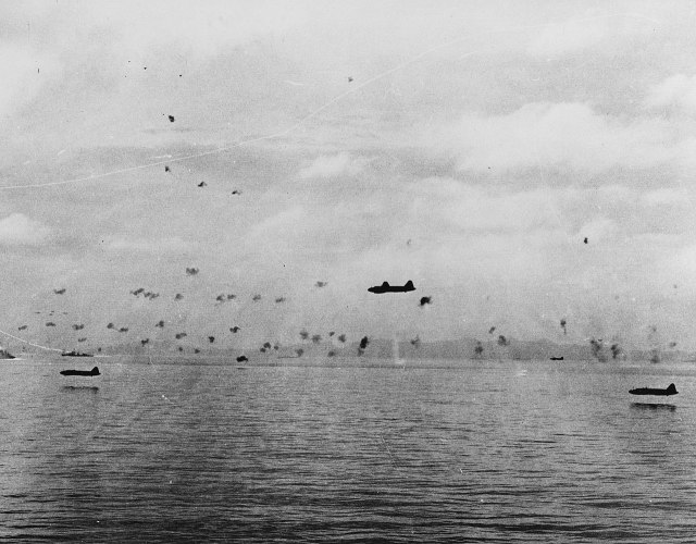 1280px-Mitsubishi_G4M1_bombers_attack_the_invasion_force_between_Guadalcanal_and_Tulagi_on_8_August_1942_(80-G-17066)